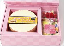 鳥取県名産品 ご当地スイーツ 花とベイクドチーズケーキのギフトセット