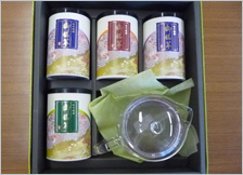 静岡市銘茶 深蒸し煎茶と急須セット まつの茶特選ギフト「ささら」